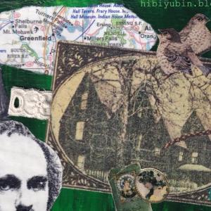 ハンドメイドポストカード #21 グリーンマップ