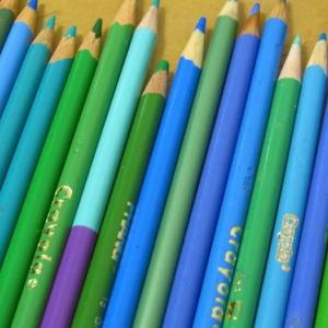 色鉛筆でポストカードぬりぬり
