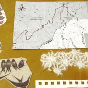ハンドメイドポストカード#86-88 マップマップ、蛾