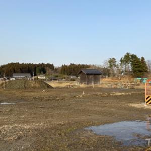 多賀城跡が「南門」の復元工事中だった