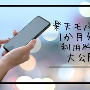 楽天モバイル1か月分の料金を大公開!果たして携帯代は0円になったのか?