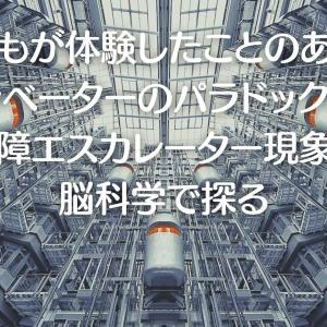 誰もが体験したことのあるエレベーターのパラドックスと故障エスカレーター現象を脳科学で探る