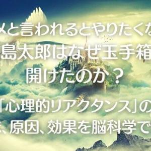 【ダメと言われるとやりたくなる】浦島太郎はなぜ玉手箱を開けたのか?「心理的リアクタンス」の意味、原因、効果を脳科学で探る