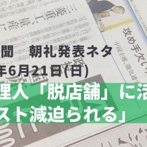 本日の日経新聞 朝礼ネタ 2020/06/21