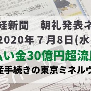 本日の日経新聞 朝礼ネタ 2020/07/08