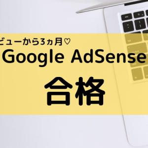 ブログ開設3ヵ月目 Google AdSense合格しました