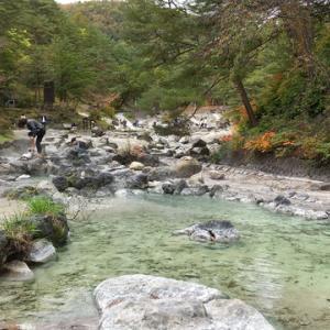 草津温泉の湯畑周辺と西の河原を散策