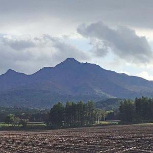 今日の斜里岳 2020年10月5日 紅葉が一気に進む