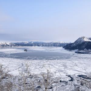 冬の摩周湖 完全氷結目前! 2021年2月13日