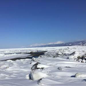 今年初、斜里の前浜全面結氷 3月に再接岸した2021年の流氷 2021年3月3日