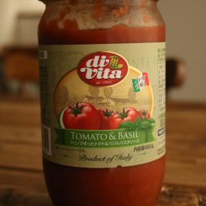 <業務スーパー>「トリノで作ったトマト&バジルパスタソース」にコストコのラクレットチーズを♪