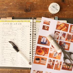 <手書き家計簿>開いてるスペースに写真をペタペタ☆細かい作業が好きです♪