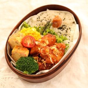 【お弁当】特売の鶏ムネ肉で『油淋鶏弁当』☆3つの調味料で簡単味付け♪