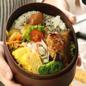 【お弁当】がっつり濃い味好きのご飯が進み味噌だれ弁当☆「茄子の肉巻き」