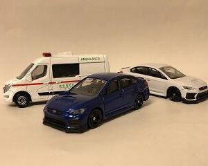 21年5月トミカ新車 スバルWRX S4、日産EV救急車