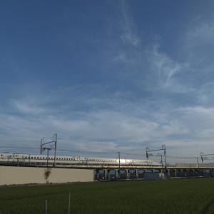 新幹線 上手く撮れました!写真歴50年さすがです