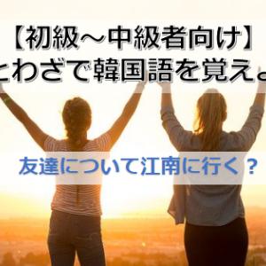 【韓国語ことわざ】「友達について江南に行く」の意味