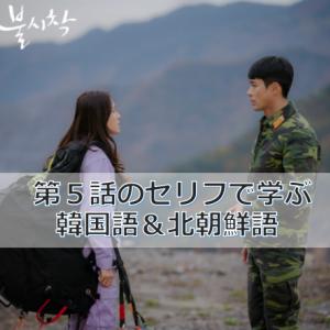 「愛の不時着」第5話のセリフで学ぶ韓国語&北朝鮮語(動画付き)