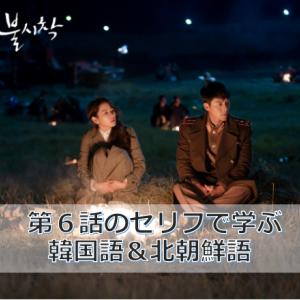 「愛の不時着」第6話のセリフで学ぶ韓国語&北朝鮮語(動画付き)