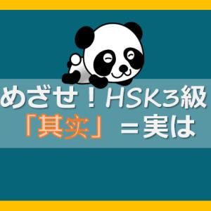 【めざせHSK3級】中国語表現「其实(実は)」/単語復習 勉強記録②
