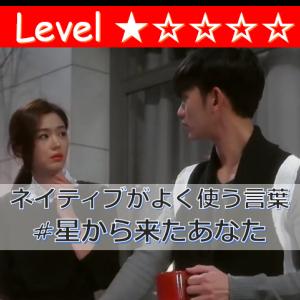 ドラマで学ぶ韓国語|ネイティブがよく使う言葉「星から来たあなた」
