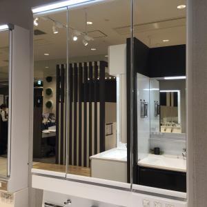 洗面化粧台 三面鏡VS一面鏡