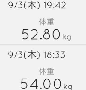 50分ランニングしたら1.2kgも減りました!#131点目