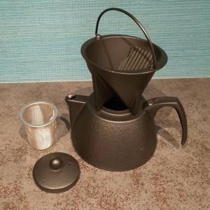 南部鉄器、コーヒーポットセットでお茶を飲もう!
