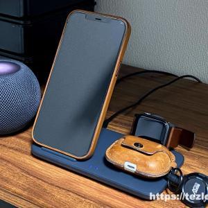 【レビュー】Anker PowerWave+ 3-in-1 stand with Watch Holder iPhone・AirPods・Apple Watchをまとめてワイヤレス充電!