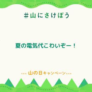 #山にさけぼうキャンペーン「電気代こわいぞー!」