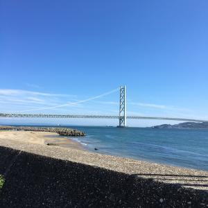 過去のサイクリングを振り返る 明石海峡大橋