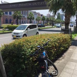 過去のサイクリングを振り返る 大阪湾沿い りんくうタウンでひとっ風呂