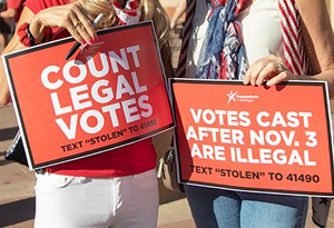 Count every legal vote! で大逆転シナリオ