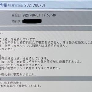 6/1のCT検査結果は?