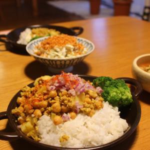 母子家庭の晩ごはん「ひよこ豆とひき肉のインド風カレー」