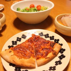 2020年8月1日(土)の晩ごはん「業務スーパーの冷凍ピザと塩豚ポトフ」