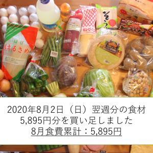 【食費2万】子ひとり母子家庭の1週間分の食材を写真で公開(8月2日(日)~8月8日(土)分)