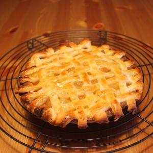 Momoとアップルパイを作ったよ
