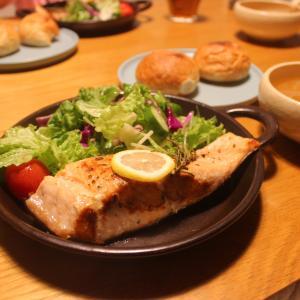 2020年10月27日(火)「鮭のステーキ」と外国産レモン
