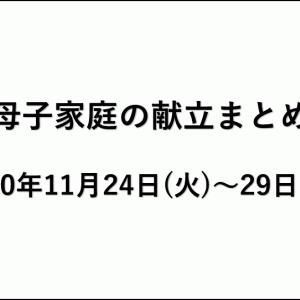 献立まとめ:2020年11月24日(火)~29日(日)