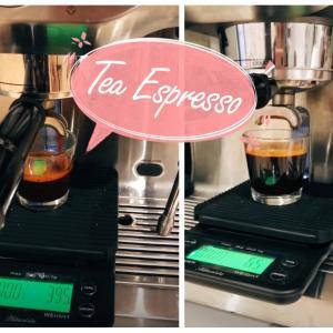 エスプレッソマシンにお茶っぱ入れてみた♡おうちでTea Latte出来ました❣️