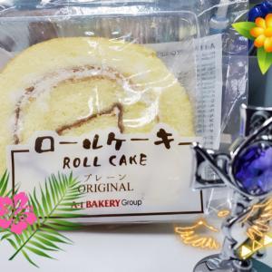 おやつのロールケーキ