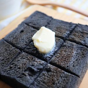 黒の生食パンでバタートースト