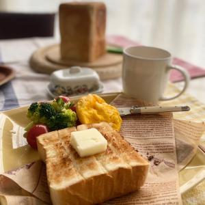 ペリカン食パンのトースト朝ごはん