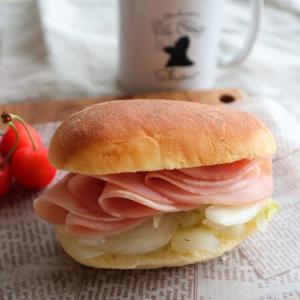 成城石井商品のお惣菜でサンドイッチ