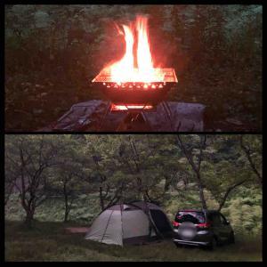 ホタル観賞キャンプ2日目