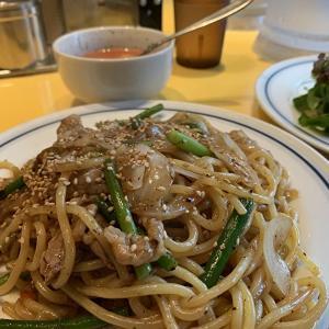 【今月の関谷スパゲティ】牛バラ肉とにんにくの芽 XO醤炒め 730円【中目黒 パスタ】