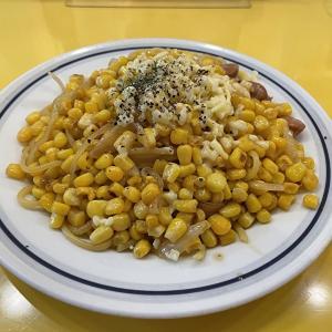 【今月の関谷スパゲティ】とうもろこしとチョリソー 焦がし醤油 炙りチーズスパ
