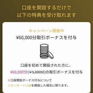 無料登録で6万円ボーナス‼️利益は出金可能😊