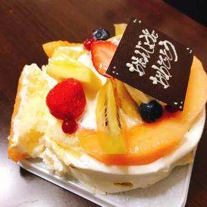 誕生日ケーキからのキセキ